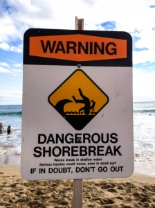 Sign - Dangerous Shore Break