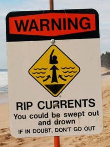 Sign - Rip Current