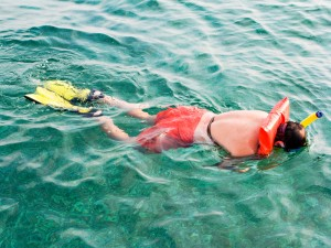 Snorkeling with Flotation Device