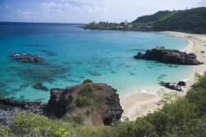 overview of Waimea Bay, north shore, Hawaii, 08.09.08