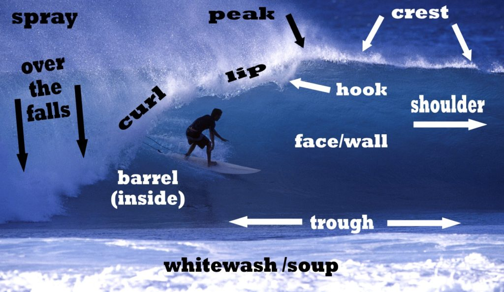 surfer in a barrelling wave on Hawaii's north shore