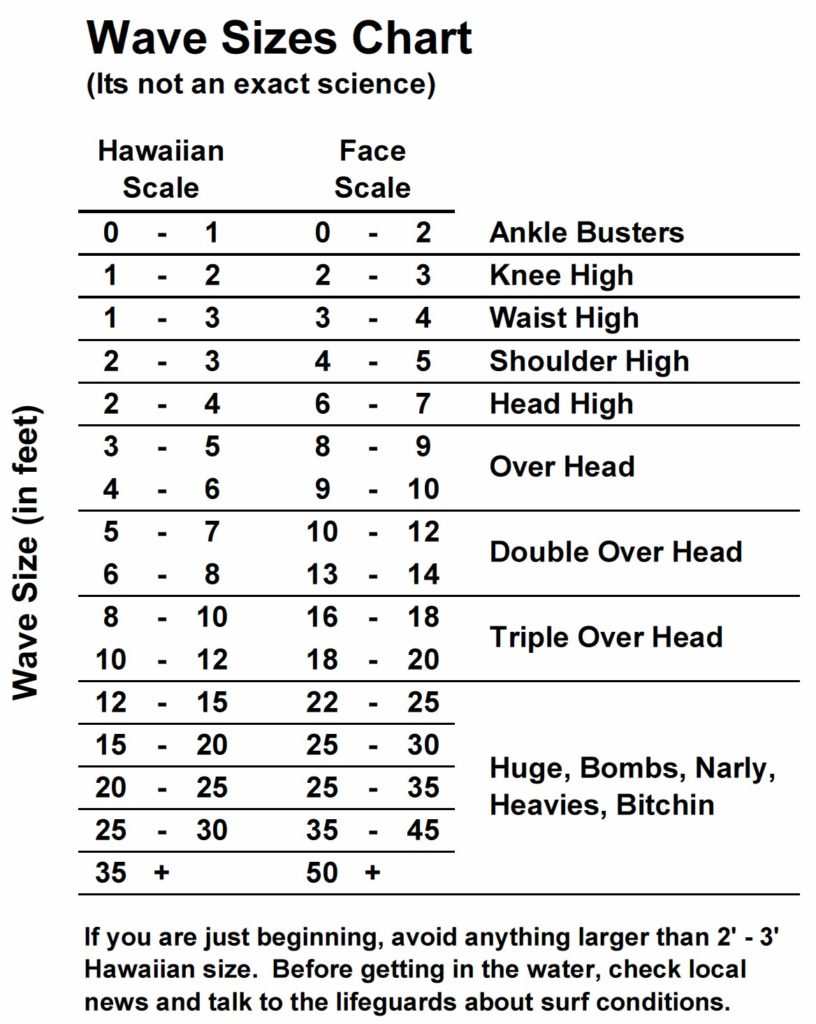 Know the waves aloha surf guide wave sizes measuring wave height nvjuhfo Images